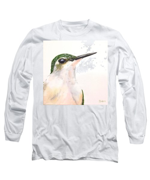 F. Ruby Throated Hummingbird Long Sleeve T-Shirt