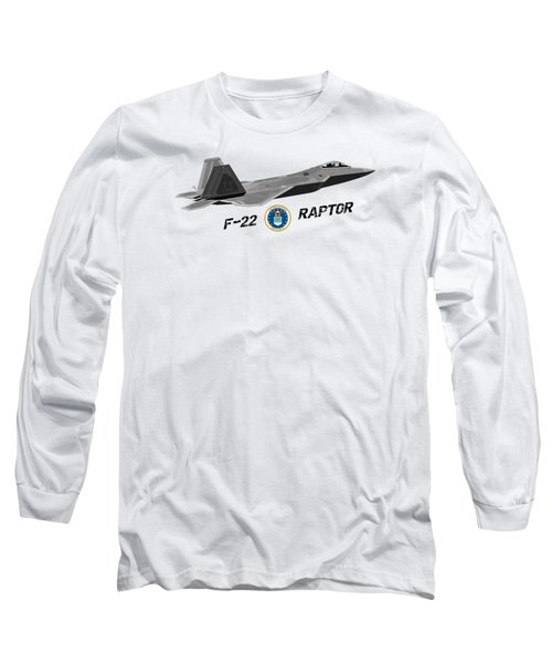 F22 Raptor Png Long Sleeve T-Shirt