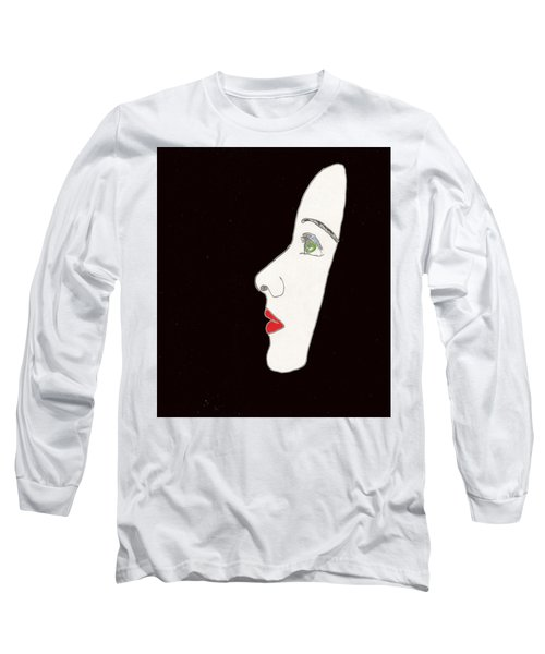Face In Profile Long Sleeve T-Shirt