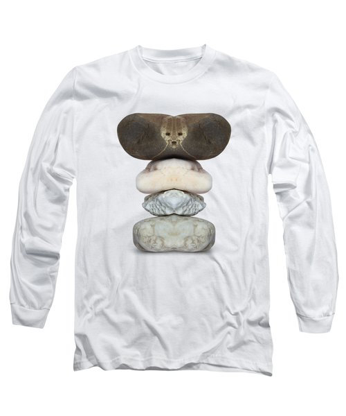 Face Of Alien On The Stone Long Sleeve T-Shirt