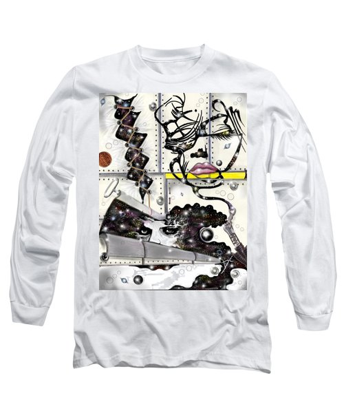 Faces In Space Long Sleeve T-Shirt