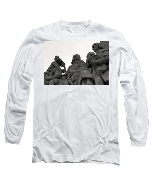 Long Sleeve T-Shirt featuring the photograph Faces Of The Monument by Lorraine Devon Wilke