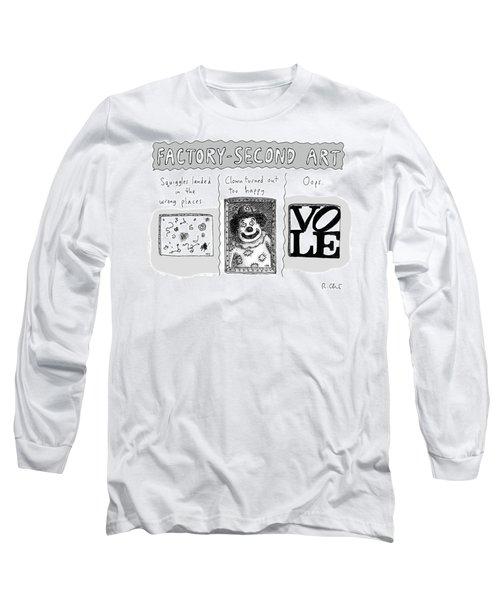 Factory Second Art Long Sleeve T-Shirt