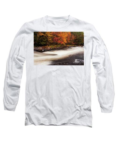 Fall At Oxtongue Rapids Long Sleeve T-Shirt