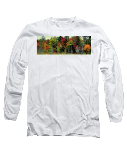 Long Sleeve T-Shirt featuring the photograph Fall Color Panorama by David Patterson