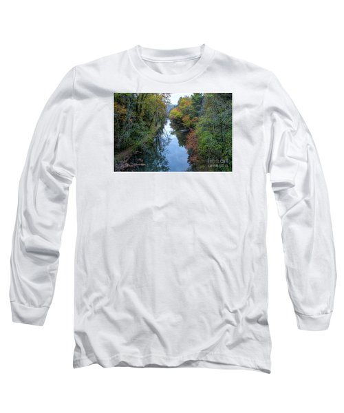 Fall Colors Along The Tallulah River Long Sleeve T-Shirt by Barbara Bowen