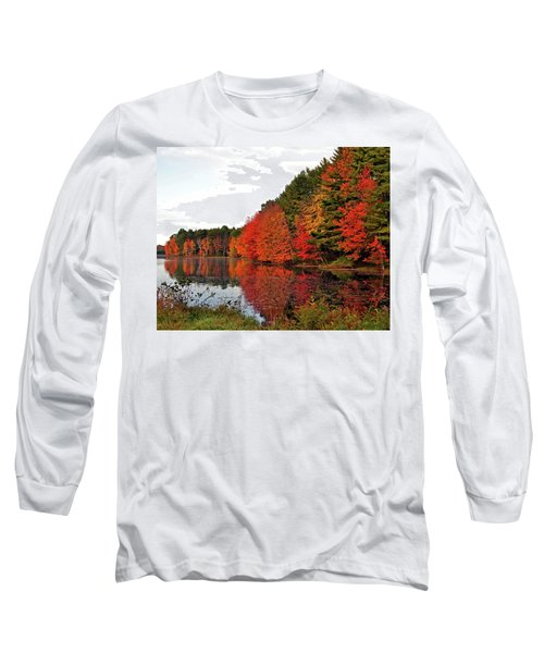 Fall Colors In Madbury Nh Long Sleeve T-Shirt by Nancy Landry