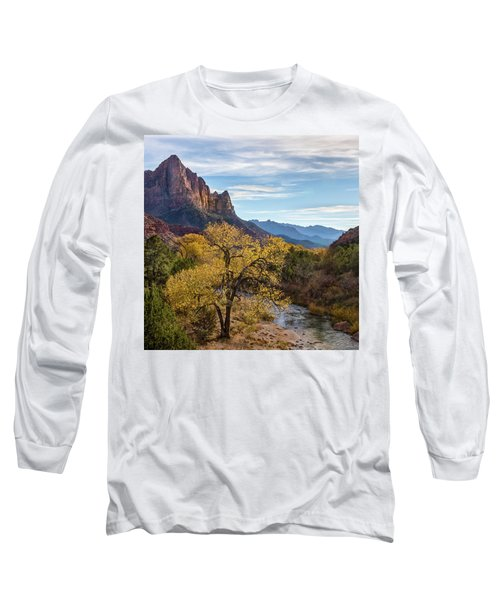 Fall Evening At Zion Long Sleeve T-Shirt