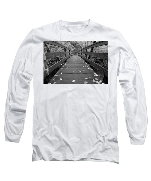 Long Sleeve T-Shirt featuring the photograph Fall In Oregon Bw by Jonathan Davison