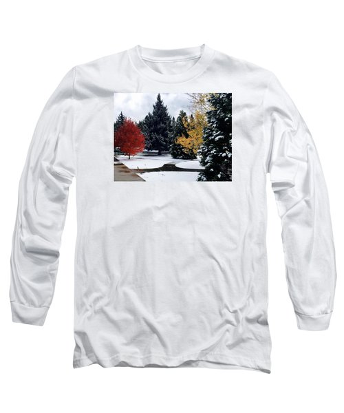 Fall Into Winter Long Sleeve T-Shirt by Russell Keating