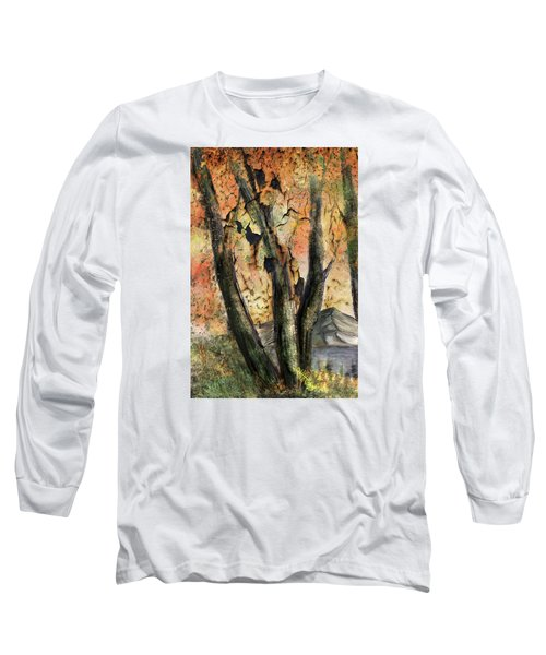 Long Sleeve T-Shirt featuring the painting Fall Splendor  by Annette Berglund