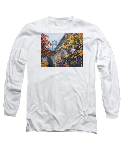 Long Sleeve T-Shirt featuring the painting Fall St Johns by Karen Ilari