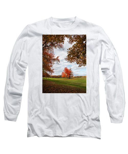 Fall Trees At Oatlands Long Sleeve T-Shirt