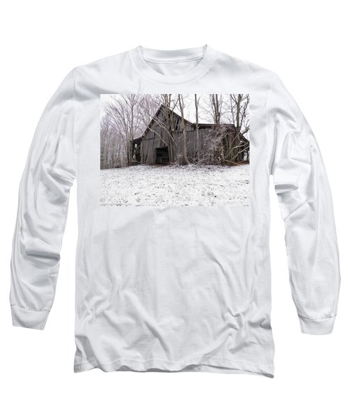 Falling Barn Long Sleeve T-Shirt by Nick Kirby