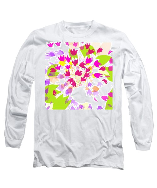 Long Sleeve T-Shirt featuring the digital art Falling Leaves by Barbara Moignard