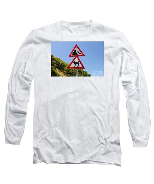 Falling Rocks And Baboons Long Sleeve T-Shirt