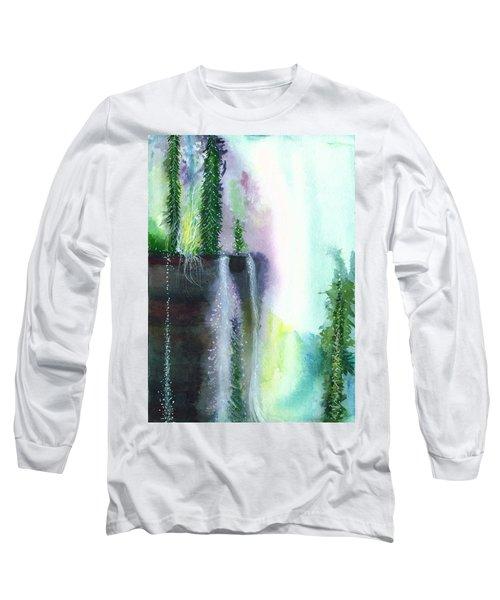 Falling Waters 1 Long Sleeve T-Shirt by Anil Nene