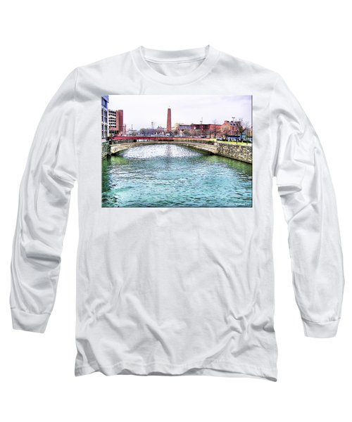 Long Sleeve T-Shirt featuring the photograph Fallswalk And Shot Tower by Brian Wallace
