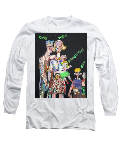 Long Sleeve T-Shirt featuring the painting Family Day by Fabrizio Cassetta
