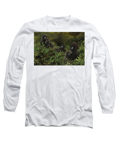 Family Of Gorillas Long Sleeve T-Shirt