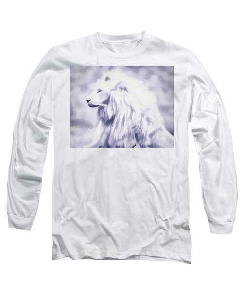 Fantasy White Lion Long Sleeve T-Shirt
