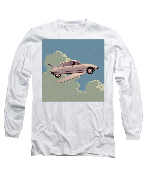 Fantomas 1965 - Right Panel Long Sleeve T-Shirt by Udo Linke