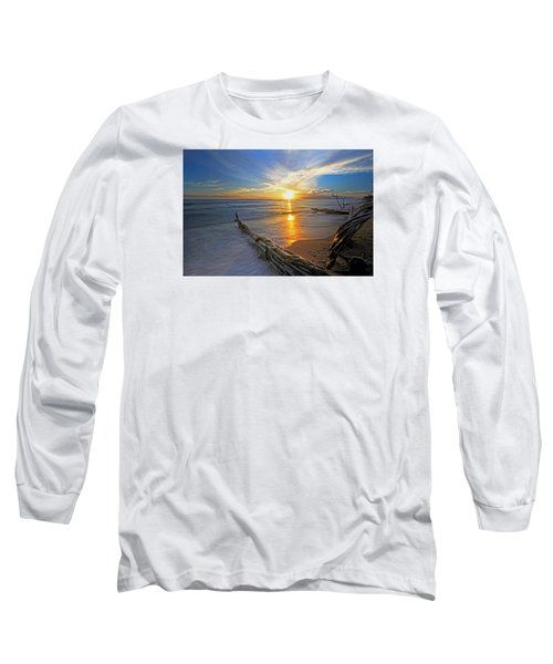 Far Out To Sea Long Sleeve T-Shirt by James Roemmling