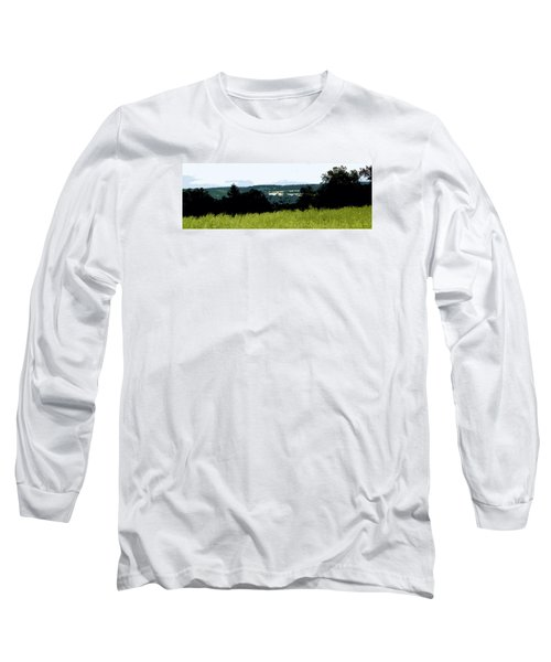 Long Sleeve T-Shirt featuring the photograph Farm In The Valley by Spyder Webb