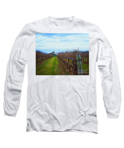 Farm Long Sleeve T-Shirt by Raymond Earley