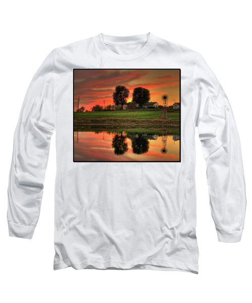 Long Sleeve T-Shirt featuring the photograph Farm Sunset by Farol Tomson