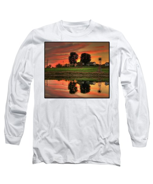 Farm Sunset Long Sleeve T-Shirt