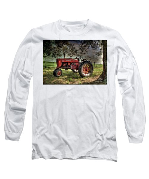 Farmall In The Field Long Sleeve T-Shirt by Michael Eingle