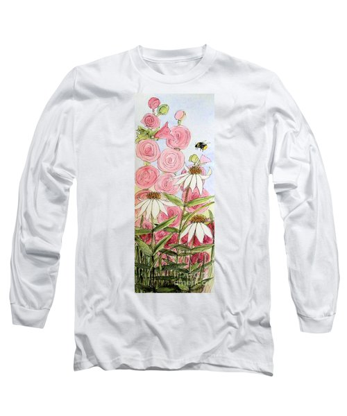 Farmhouse Garden Long Sleeve T-Shirt by Laurie Rohner
