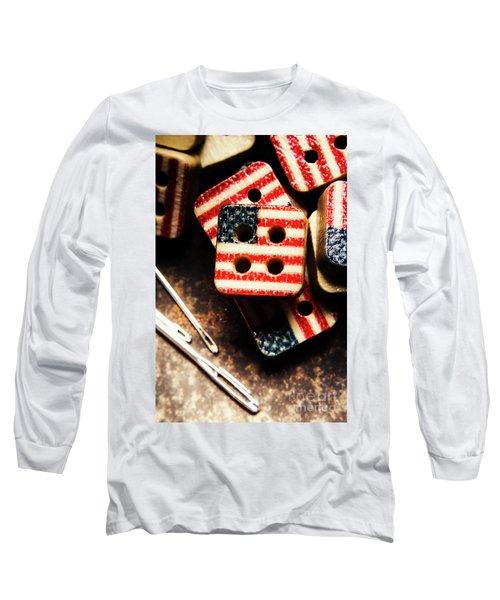 Fashioning A Usa Design Long Sleeve T-Shirt