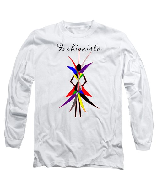 Fashionista Long Sleeve T-Shirt by Methune Hively