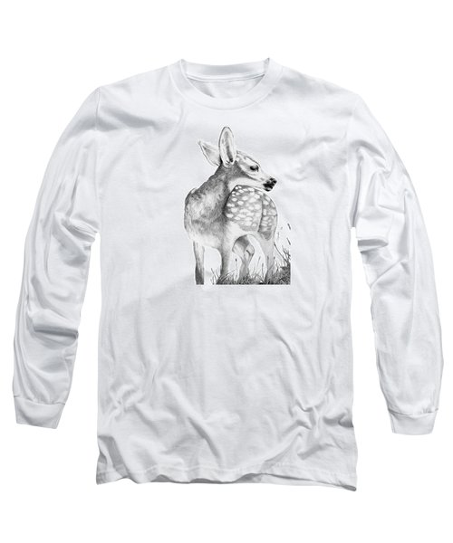 Fawn Long Sleeve T-Shirt by Lawrence Tripoli