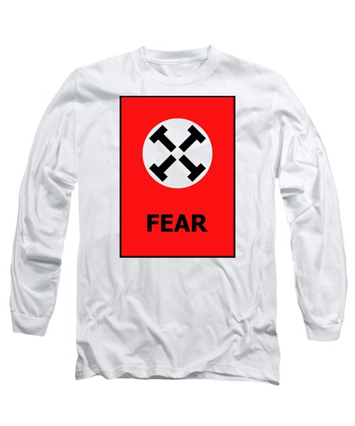 Long Sleeve T-Shirt featuring the digital art Fear by Richard Reeve