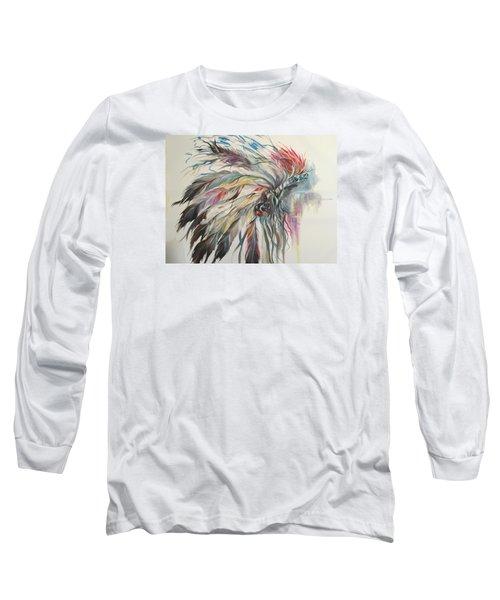 Feather Hawk Long Sleeve T-Shirt by Heather Roddy