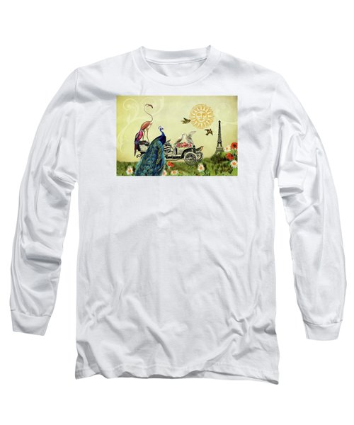 Long Sleeve T-Shirt featuring the photograph Feathered Friends In Paris, France by Peggy Collins