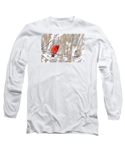 Long Sleeve T-Shirt featuring the photograph Feathered Friends by Trina Ansel