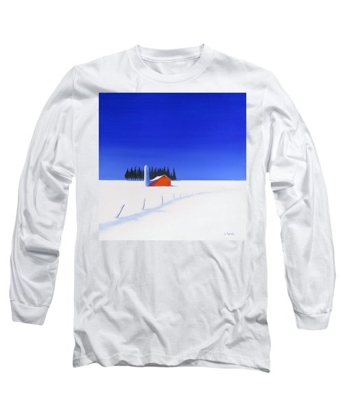 Long Sleeve T-Shirt featuring the painting February Fields by Jo Appleby