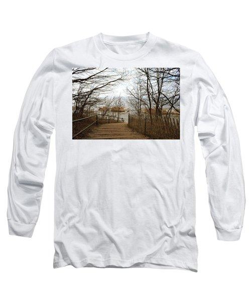 February Ice On Lake Michigan Long Sleeve T-Shirt