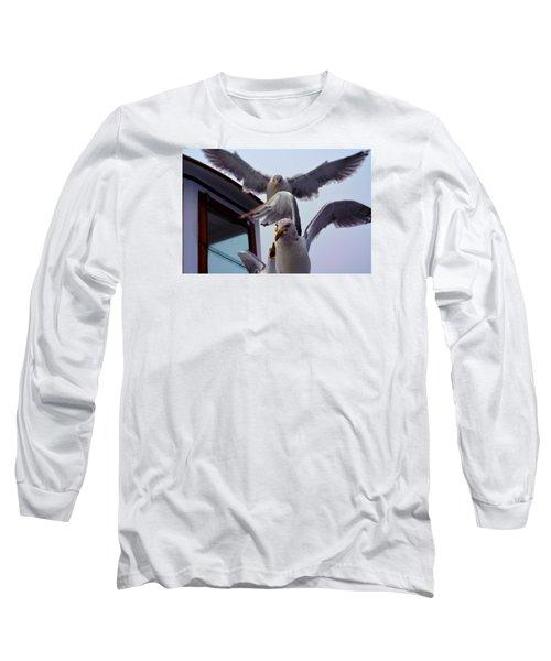 Long Sleeve T-Shirt featuring the photograph Feeding Frenzy by Richard Ortolano