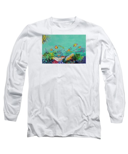 Long Sleeve T-Shirt featuring the painting Feeding Time by Lyn Olsen