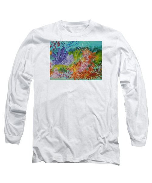 Long Sleeve T-Shirt featuring the painting Feeding Time On The Reef #3 by Lyn Olsen