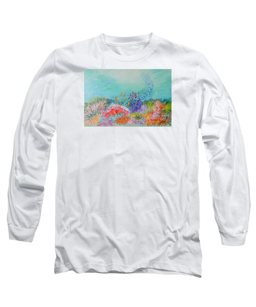 Long Sleeve T-Shirt featuring the painting Feeding Time On The Reef by Lyn Olsen