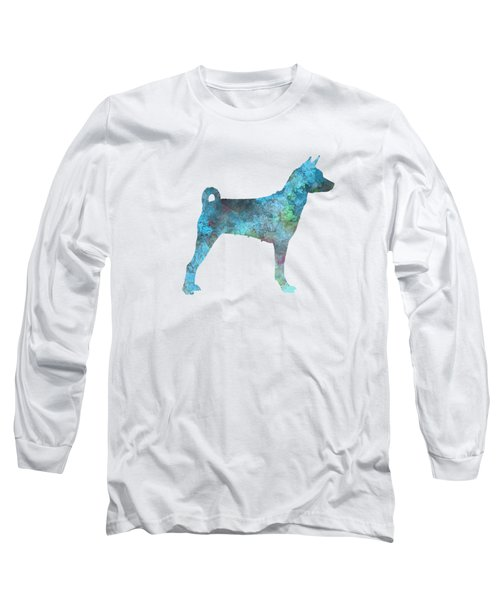 Female Basenji In Watercolor Long Sleeve T-Shirt