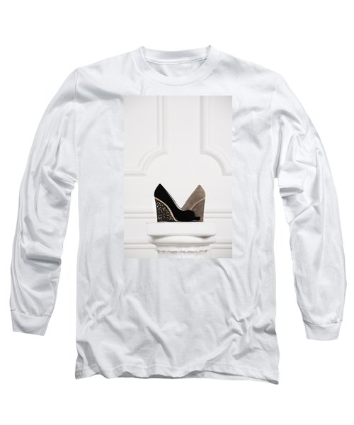 Long Sleeve T-Shirt featuring the photograph Female Shoes by Andrey  Godyaykin