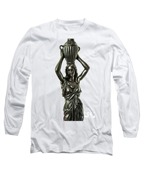 Female Water Goddess Bronze Statue 3288a Long Sleeve T-Shirt