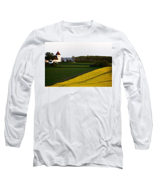Femoe Fields And Church Long Sleeve T-Shirt by Eric Nielsen